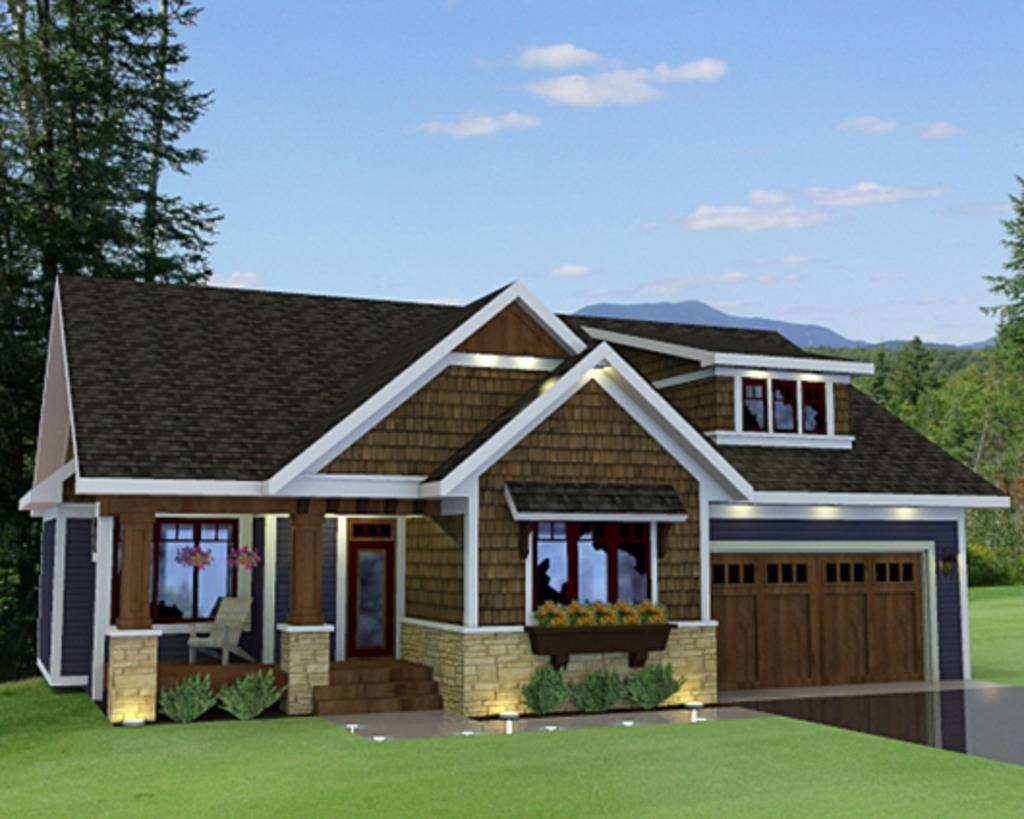 Craftsman Style House Plan Beds Baths - House Plans | #127110