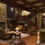 Craftsman Style Interiors Rustic Modern Stony Fireplace