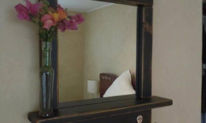Craftsman Style Mirror Shelves Hooks