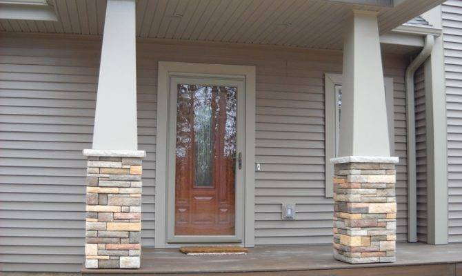 Craftsman Style Stone Columns Home Heart Pinterest