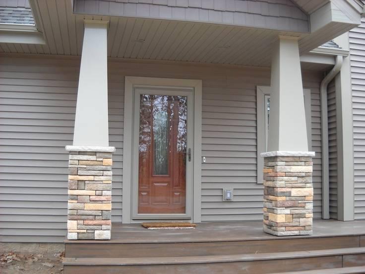 Craftsman Style Stone Columns Home