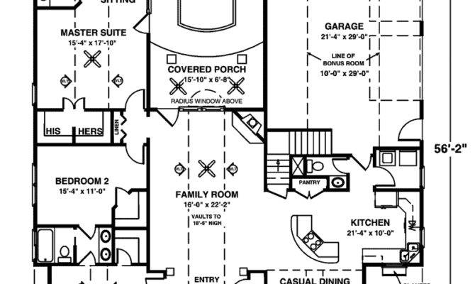 Crandall Cliff One Story Home Plan House Plans