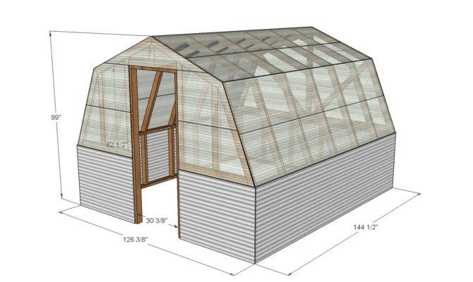 Crav Barn Style Greenhouse Plans