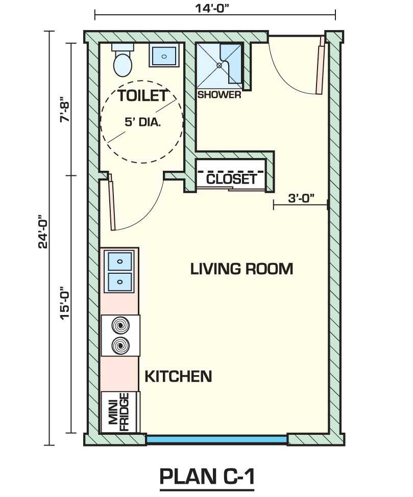 Studio Apartment Floor Plans Designs