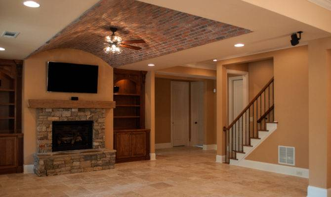Creekstone Basement Brick Arched Paver Ceiling