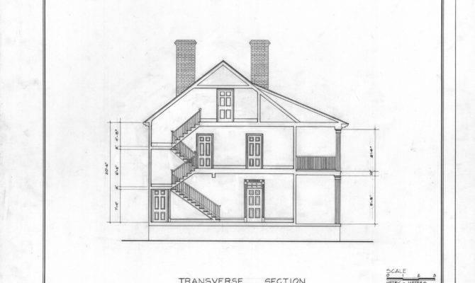 Cross Section Barker Moore House Edenton North Carolina