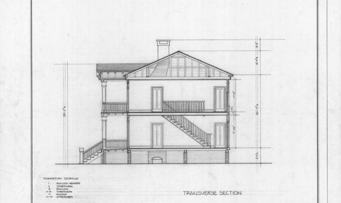 Cross Section Leecraft House Beaufort North Carolina