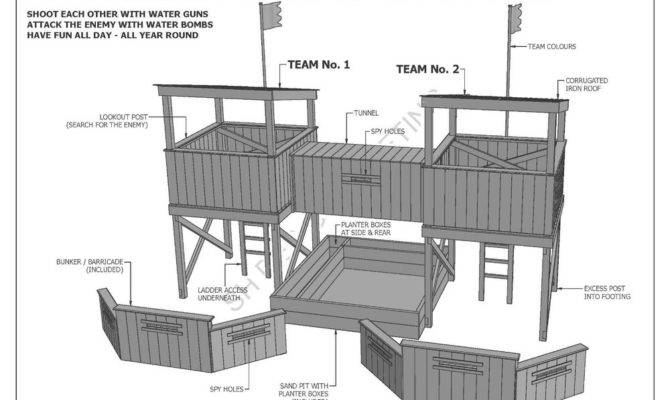 Cubby House Fort Sand Pit Combo Build Your