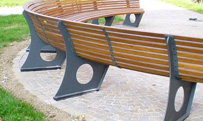Curved Bench Seating Outdoor Their