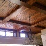 Custom Coffered Pine Ceiling