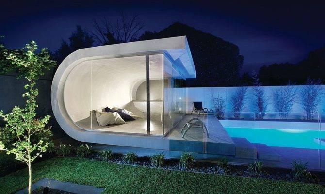 Custom Contemporary Pool House Inspired Waves Decoist