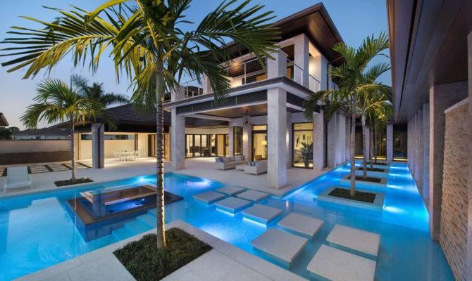 Custom Dream Home Florida Elegant Swimming Pool