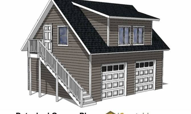 Custom Garage Plans Storage Shed Detached