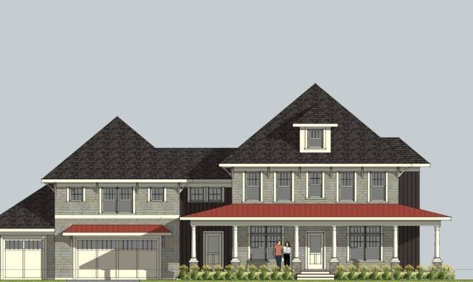 Custom Home Design Shingled Four Square Interior