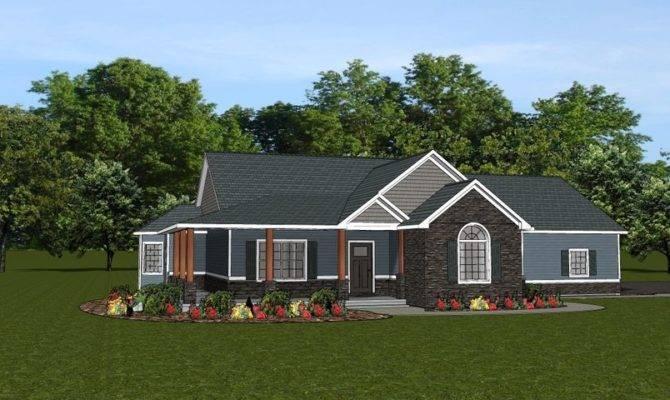 Custom Home House Plan Ranch Basement Car