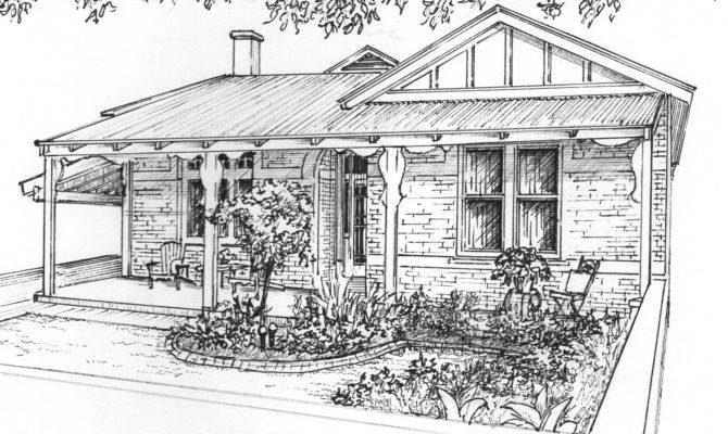 Custom House Drawing Ink Architectural Sketch Your