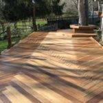 Custom Ipe Deck Herringbone Decking Pattern