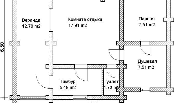 Custom Log House Sauna Russian Banya Project Floor Plan