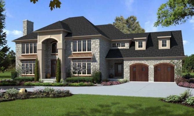 Custom Luxury Home Designs Gray Brown Colors