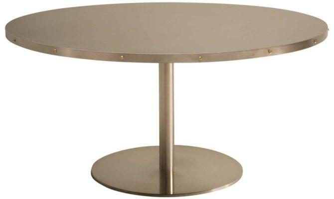 Custom Stainless Steel Dining Table Stdibs