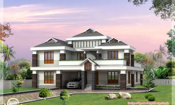 Cute Luxury Indian Home Design Kerala Floor Plans