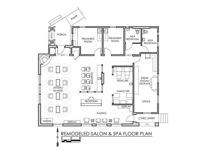 Day Spa Floor Plan Layout Remodel Salon House Plans 3970