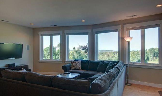 Daylight Basement Living Room Street Blaine