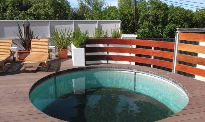 Deck Around Pool Plans Home Design Ideas Round Clipgoo