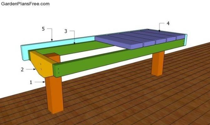 Deck Bench Plans Garden Build