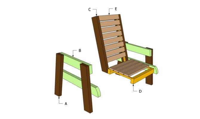Deck Chair Plans Outdoor Diy Shed Wooden