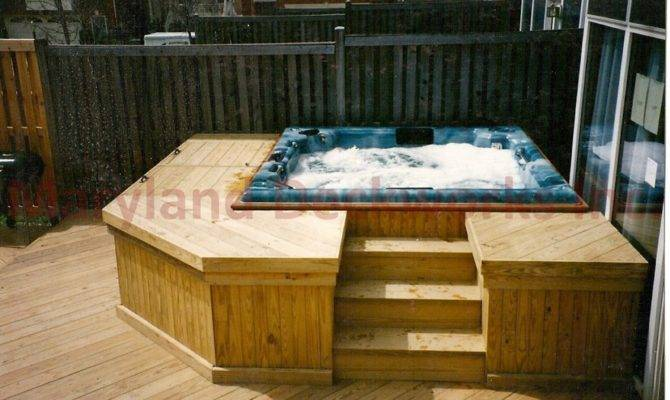 Deck Designs Hot Tubs Joy Studio Design
