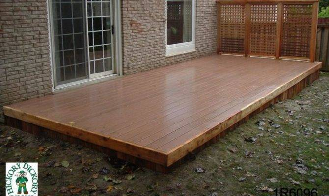 Deck Designs Low Single Level Bench