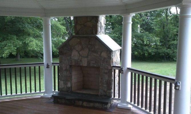 Deck Fireplace Design Ideas