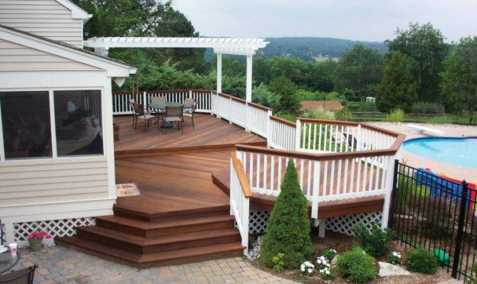 Deck Pergola Porch Designs Pools Louis