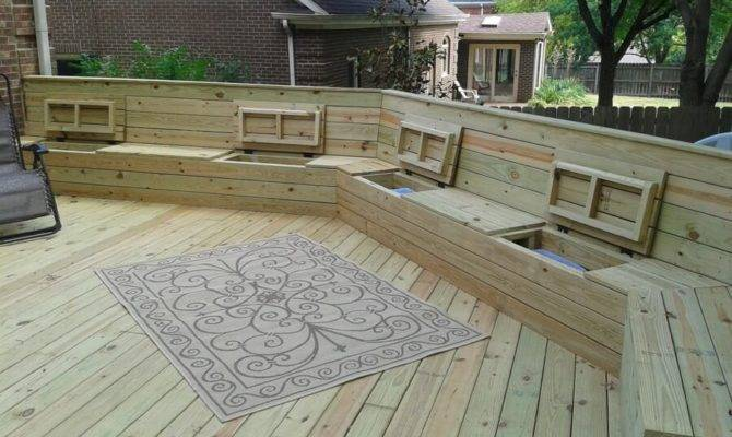 Deck Benches Plans Ideas