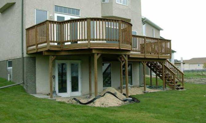 Deck Walkout Basement Designs