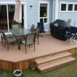 Deck Without Railing Simple Plan Great