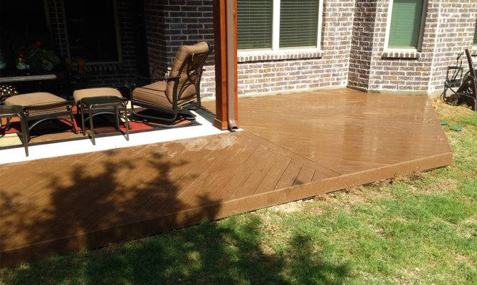 Deck Wraps Around Patio Mckinney Texas Hundt Covers