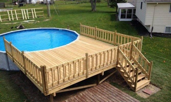 Decks Build Above Ground Pool Deck