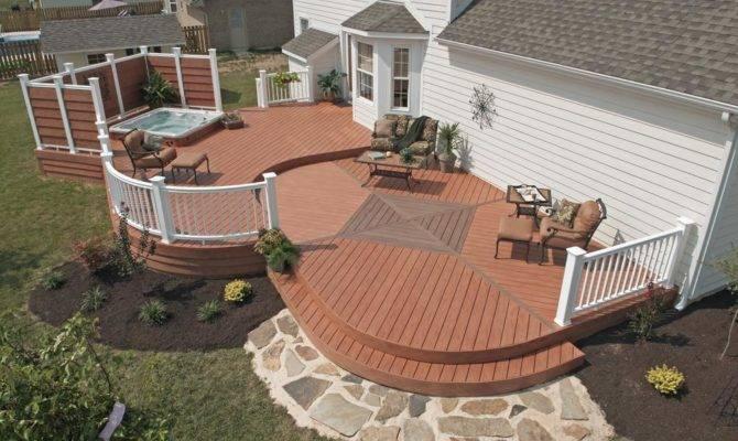 Decks Hot Tubs Outstanding Home Deck Design