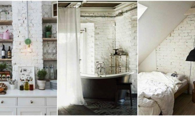 Deco Trend White Brick Walls Desired Home
