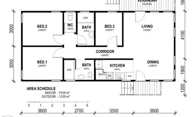 Decor Nice Simple Small Bedroom Rectangular House Plans