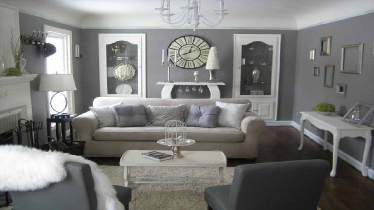 Decorating Gray Furniture Grey Cream Living Room - House Plans | #91602