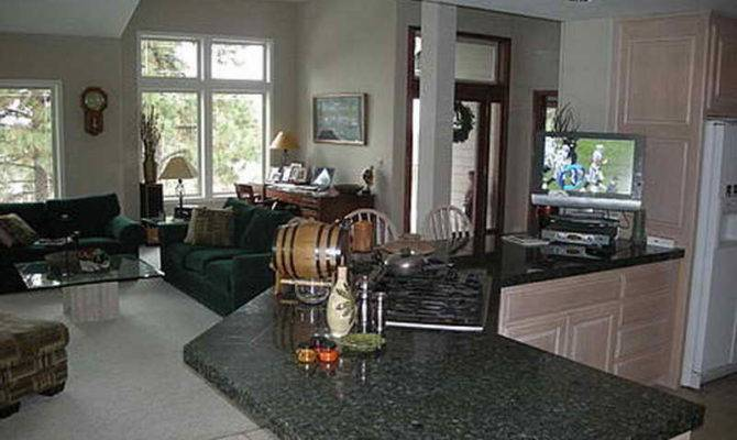 Decorating Open Floor Plan Living Room Kitchen House Plans 152684