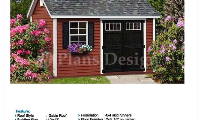 Deluxe Shed Plans Reverse Gable Roof Style
