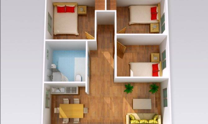 Design Cheap Bedroom House Plans