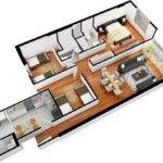Design Contemporary Apartment Flat Bedroom Decorating