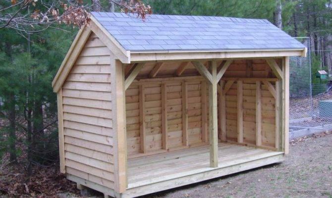 Design Elements Firewood Shed Plans Building