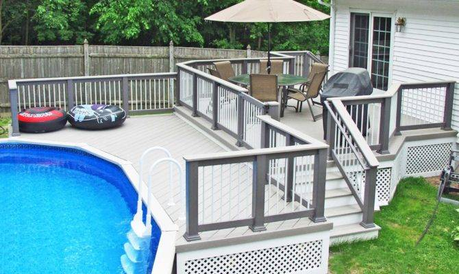 Design Ideas Concrete Pool Decks Alluring Decking