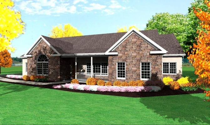 Design One Level Ranch Style House Plans